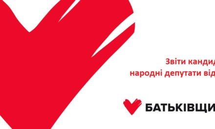 Звіт кандидатів у народні депутати від партії ВО «Батьківщина»
