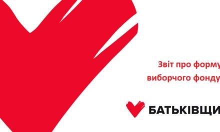 Звіт партії «Батьківщина» про формування виборчого фонду (26 червня – 24 липня)