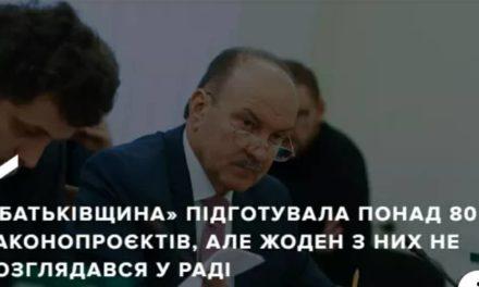 Михайло Цимбалюк: «Батьківщина» підготувала понад 80 законопроєктів, але жоден з них не розглядався у Раді